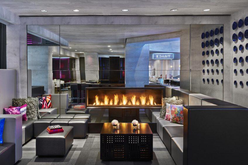 W San Francisco Luxury Hotel - San Francisco, CA, USA - Living Room Fireplace