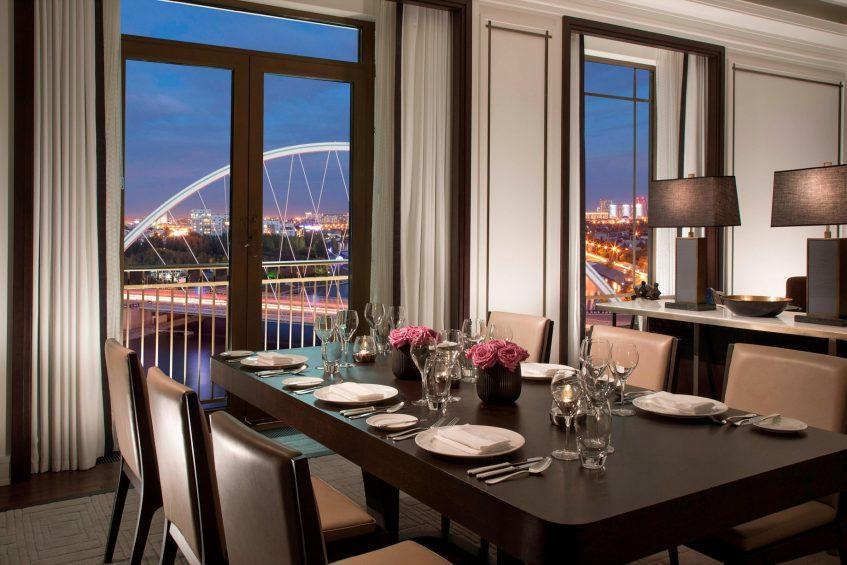The St. Regis Astana Luxury Hotel - Astana, Kazakhstan - St. Regis Suite Dining Room View