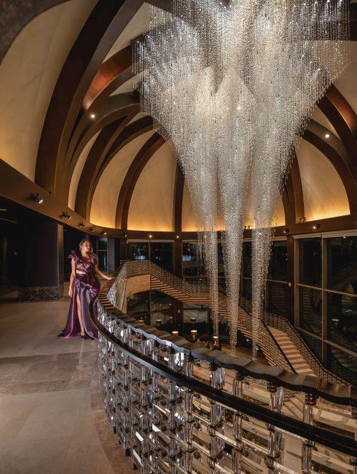 The St. Regis Cairo Luxury Hotel - Cairo, Egypt - Grand Crystal Chandelier