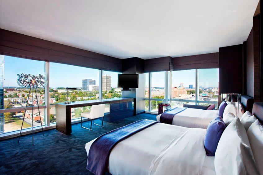 W Atlanta Downtown Luxury Hotel - Atlanta, Georgia, USA - Cool Corner Guest Room Queen