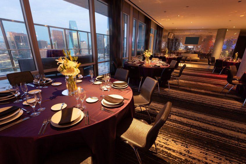 W Dallas Victory Luxury Hotel - Dallas, TX, USA - Altitude Banquet Table Setting