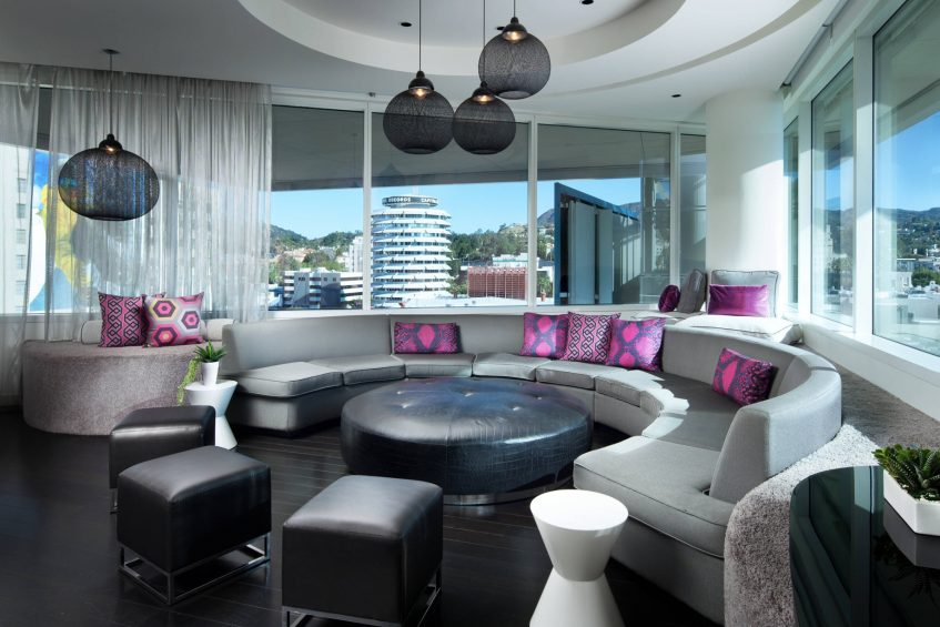 W Hollywood Luxury Hotel - Hollywood, CA, USA - Extreme Wow Suite Living Area Seating