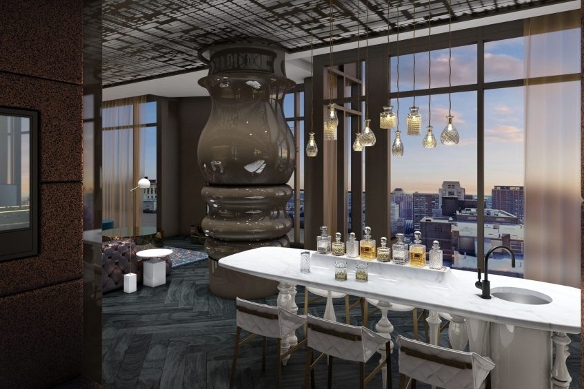 W Philadelphia Luxury Hotel - Philadelphia, PA, USA - E WOW Suite View