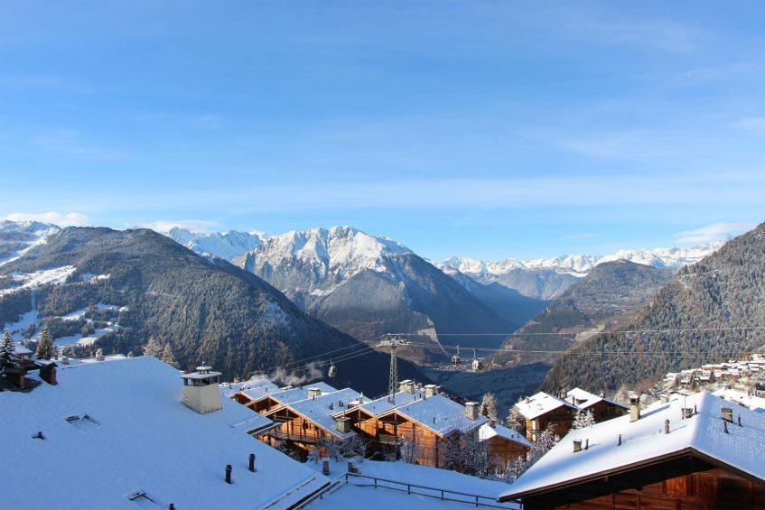 W Verbier Luxury Hotel - Verbier, Switzerland - Exterior Mountain Vista View