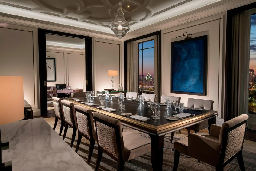The St. Regis Astana Luxury Hotel - Astana, Kazakhstan - Presidential Suite Dining Room and Study