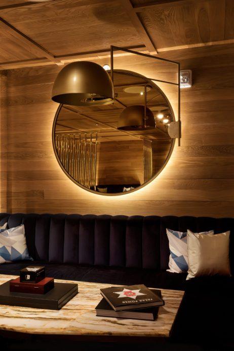 W Aspen Luxury Hotel - Aspen, CO, USA - Living Room Dining Table
