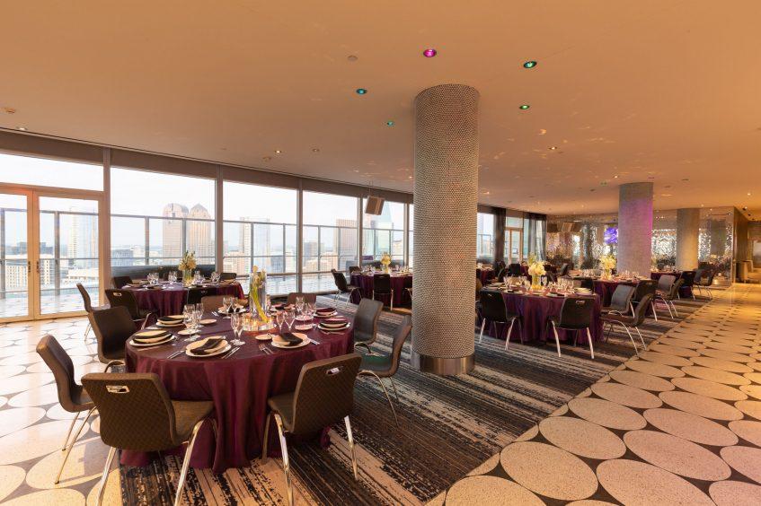W Dallas Victory Luxury Hotel - Dallas, TX, USA - Altitude Banquet Setup