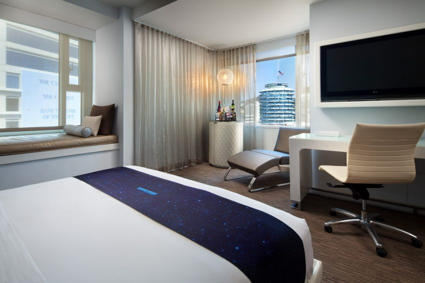 W Hollywood Luxury Hotel - Hollywood, CA, USA - Cool Corner Guest Room