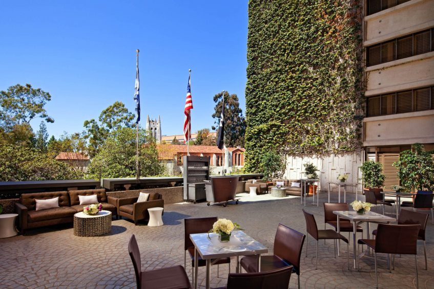 W Los Angeles West Beverly Hills Luxury Hotel - Los Angeles, CA, USA - Terrace Reception Setup