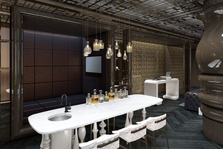 W Philadelphia Luxury Hotel - Philadelphia, PA, USA - E WOW Suite DJ Booth