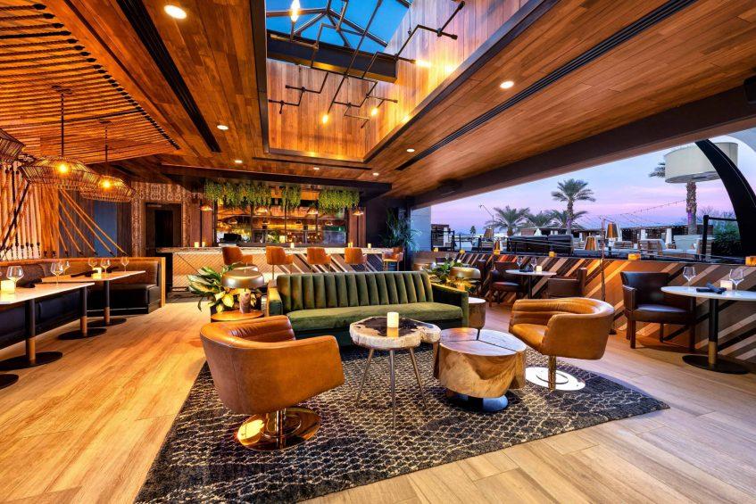 W Scottsdale Luxury Hotel - Scottsdale, AZ, USA - Cottontail Cafe and Lounge Sunset