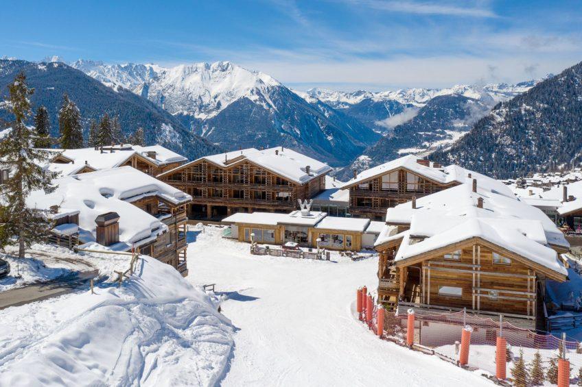 W Verbier Luxury Hotel - Verbier, Switzerland - Exterior Mountain View