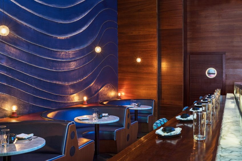 W New York Times Square Luxury Hotel - New York, NY, USA - Blue Fin Times Square Decor