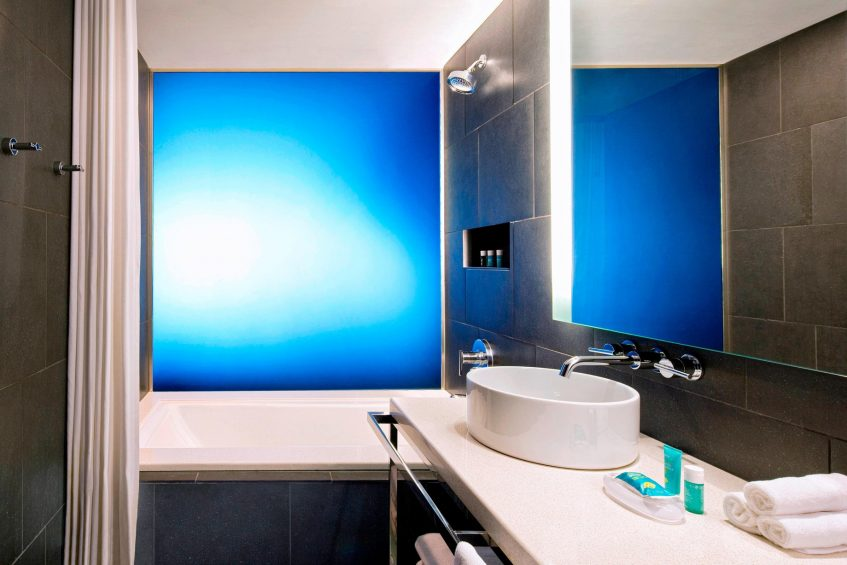 W Atlanta Downtown Luxury Hotel - Atlanta, Georgia, USA - Fabulous Bathroom Tub and Shower Combo