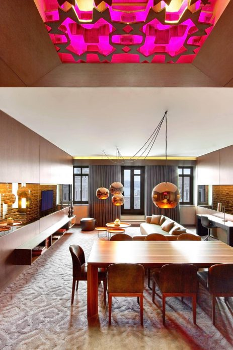 W Istanbul Luxury Hotel - Istanbul, Turkey - Cool Corner Suite Living Area