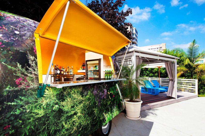 W Los Angeles West Beverly Hills Luxury Hotel - Los Angeles, CA, USA - Airstream Bar & EWOW Cabana