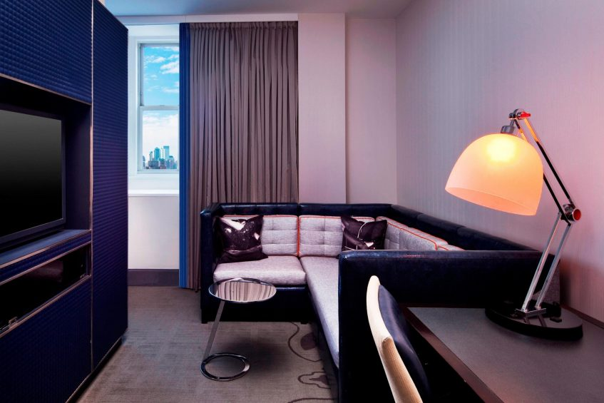 W New York Union Square Luxury Hotel - New York, NY, USA - Fantastic Suite Living Room