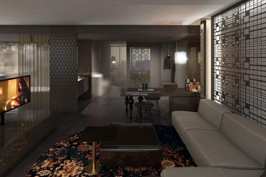 W Philadelphia Luxury Hotel - Philadelphia, PA, USA - Guest Suite Design