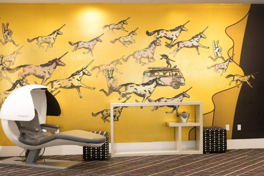 W San Francisco Luxury Hotel - San Francisco, CA, USA - Unicorn Wall And Pod