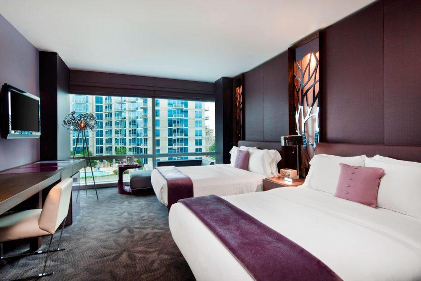 W Atlanta Downtown Luxury Hotel - Atlanta, Georgia, USA - Fabulous Guest Room Queen