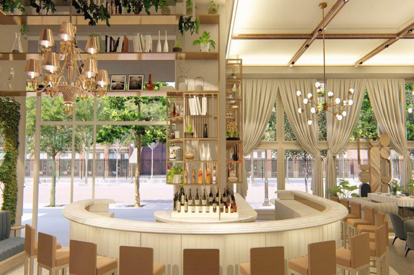 W Dallas Victory Luxury Hotel - Dallas, TX, USA - Villa Azur Bar Decor