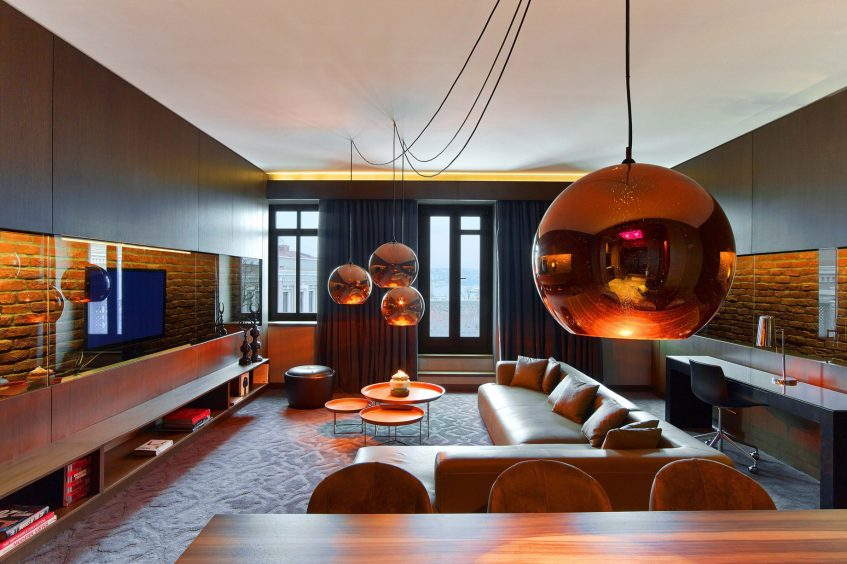 W Istanbul Luxury Hotel - Istanbul, Turkey - Cool Corner Suite Living Room