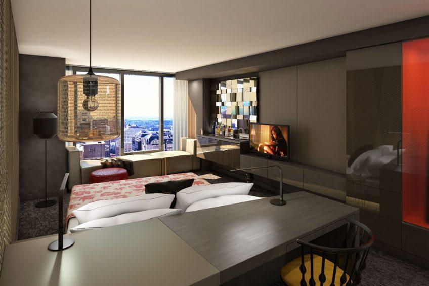 W Philadelphia Luxury Hotel - Philadelphia, PA, USA - Guest Room King