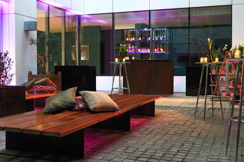 W Santiago Luxury Hotel - Santiago, Chile - Patio Ingles Cocktail Set Up