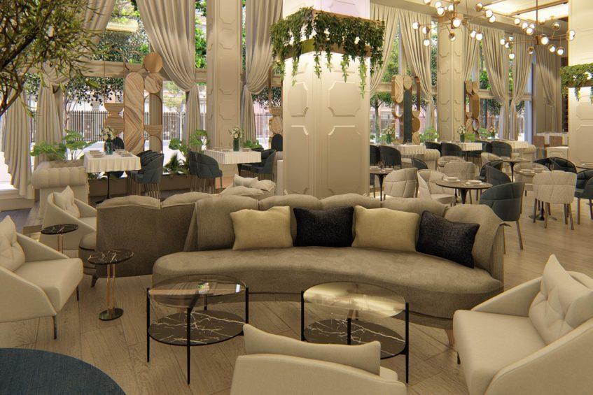W Dallas Victory Luxury Hotel - Dallas, TX, USA - Villa Azur Lounge Seating