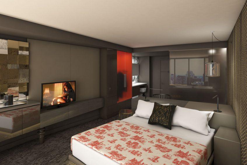 W Philadelphia Luxury Hotel - Philadelphia, PA, USA - Guest Room King Bed