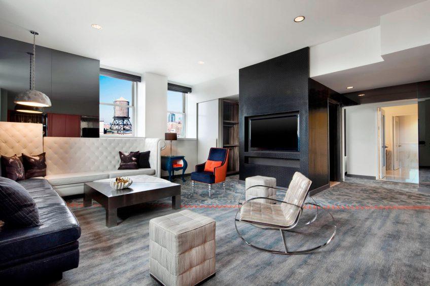 W New York Union Square Luxury Hotel - New York, NY, USA - E WOW Living Room
