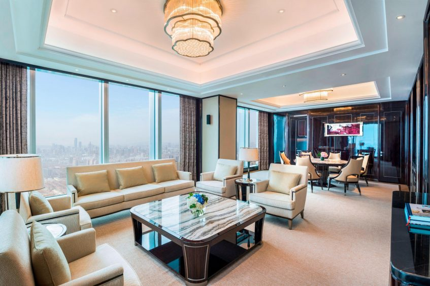 The St. Regis Changsha Luxury Hotel - Changsha, China - John Jacob Astor Suite Living Area