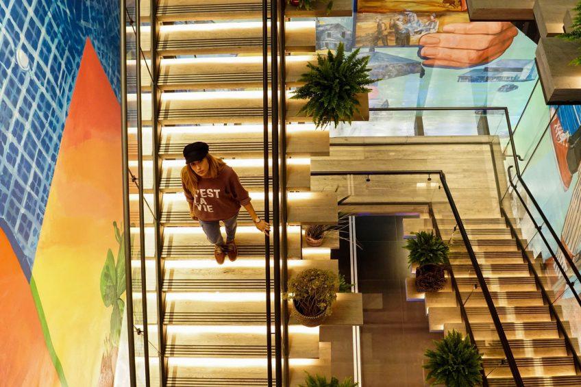 W Bellevue Luxury Hotel - Bellevue, WA, USA - Deconstructed Staircase