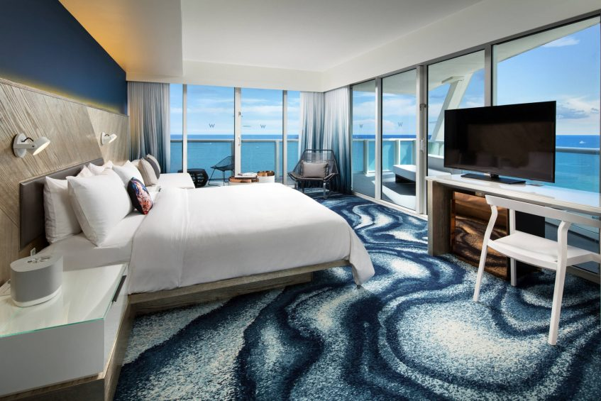 W Fort Lauderdale Luxury Hotel - Fort Lauderdale, FL, USA - Cool Corner Ocean Front Guest Room