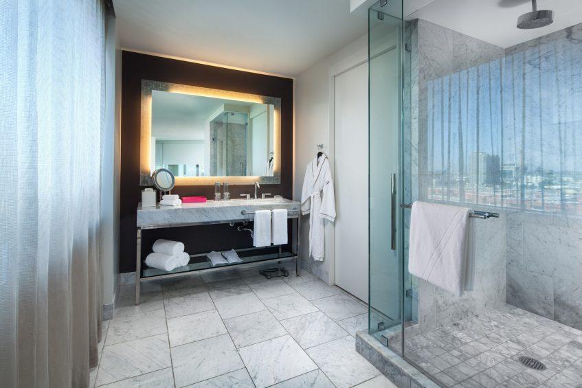 W Hollywood Luxury Hotel - Hollywood, CA, USA - Fantastic Suite Bathroom Shower