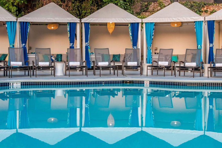 W Los Angeles West Beverly Hills Luxury Hotel - Los Angeles, CA, USA - WET Deck Poolside Cabanas