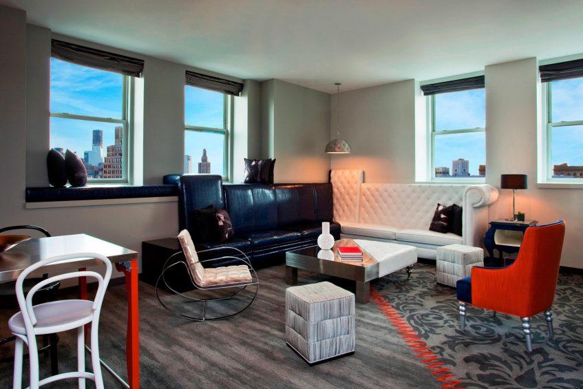 W New York Union Square Luxury Hotel - New York, NY, USA - E WOW Suite Decor