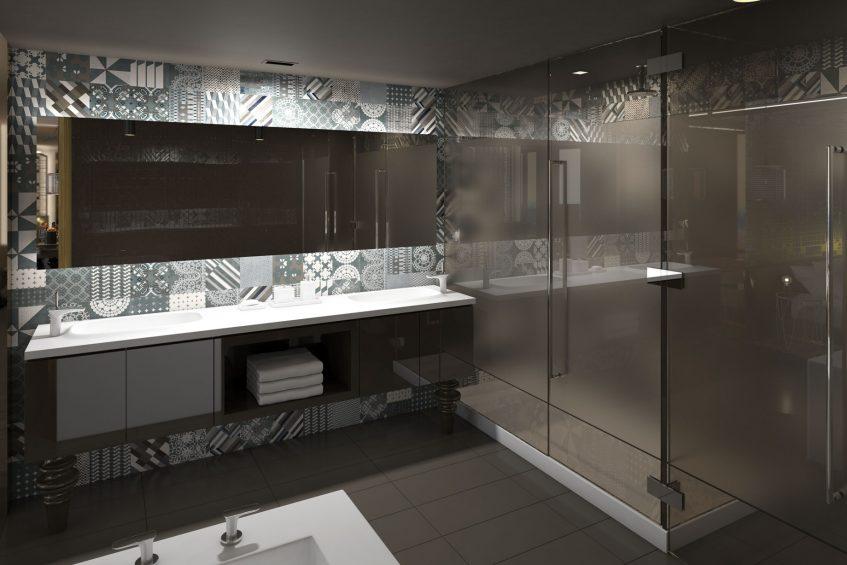 W Philadelphia Luxury Hotel - Philadelphia, PA, USA - Guest Suite Bathroom