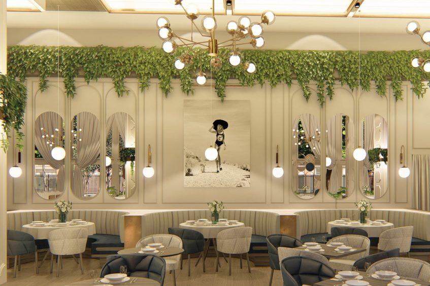 W Dallas Victory Luxury Hotel - Dallas, TX, USA - Villa Azur Dining Room Decor