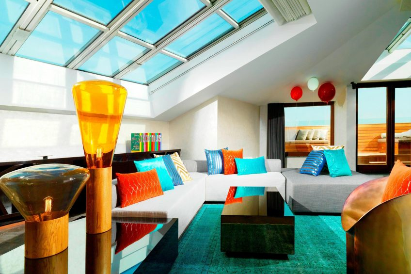 W Istanbul Luxury Hotel - Istanbul, Turkey - E Wow Suite Sitting Room Decor