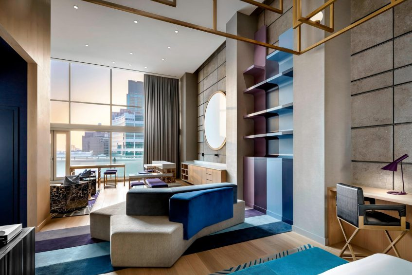 W Montreal Luxury Hotel - Montreal, Quebec, Canada - Extreme Wow Suite Living Area View