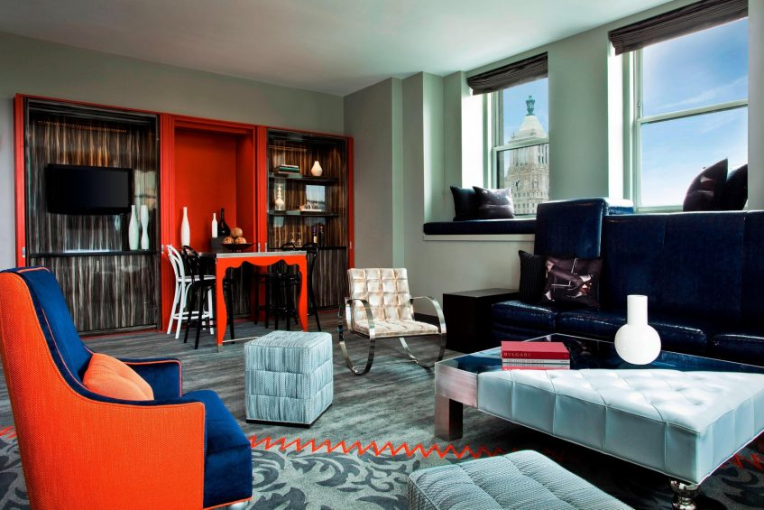 W New York Union Square Luxury Hotel - New York, NY, USA - E WOW Suite Living Area