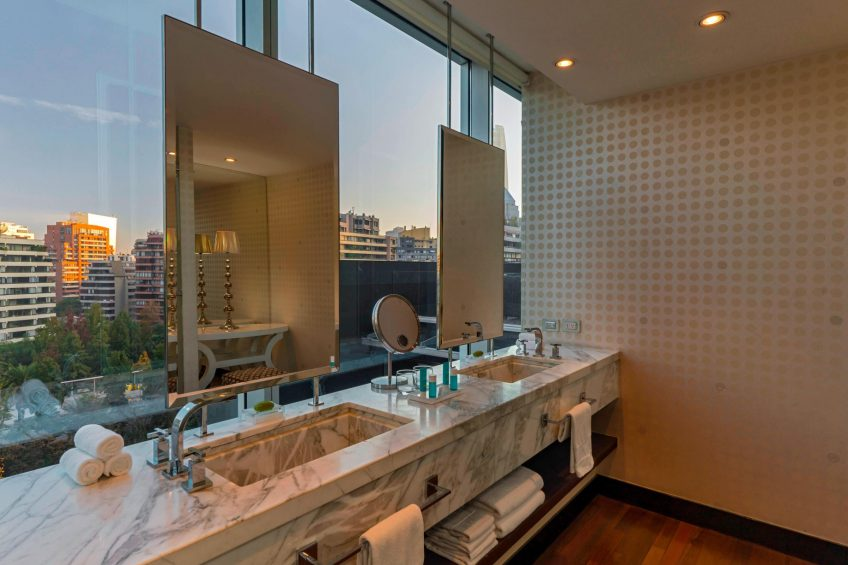 W Santiago Luxury Hotel - Santiago, Chile - Extreme Wow Suite Bathroom