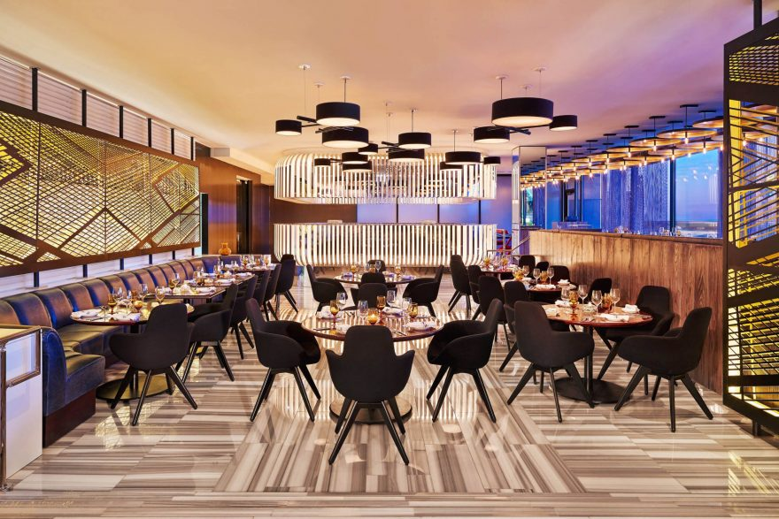 W Chicago Lakeshore Luxury Hotel - Chicago, IL, USA - CURRENT Restaurant Seating