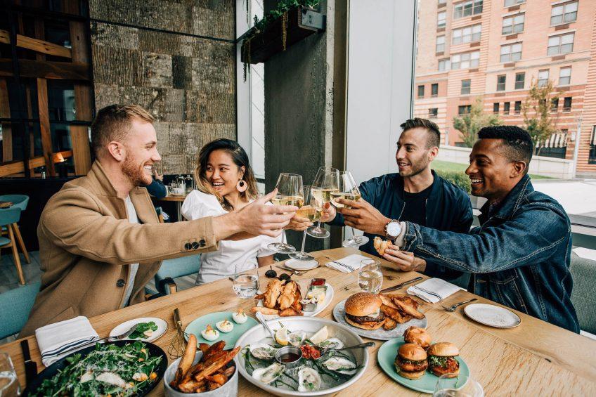 W Hoboken Luxury Hotel - Hoboken, NJ, USA - Halifax Group Dining