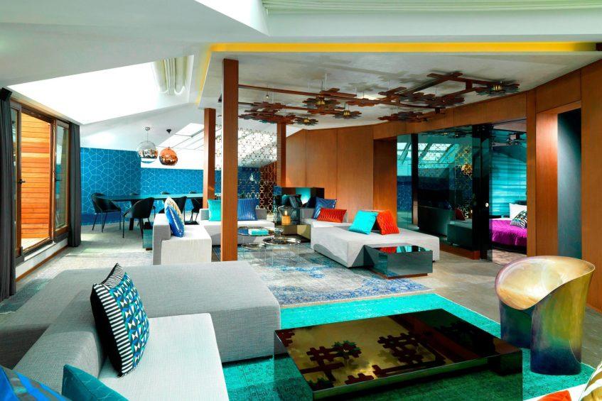 W Istanbul Luxury Hotel - Istanbul, Turkey - E Wow Suite Sitting Room