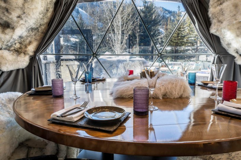 W Aspen Luxury Hotel - Aspen, CO, USA - Grotto Dome Private Outdoor Dining Experience