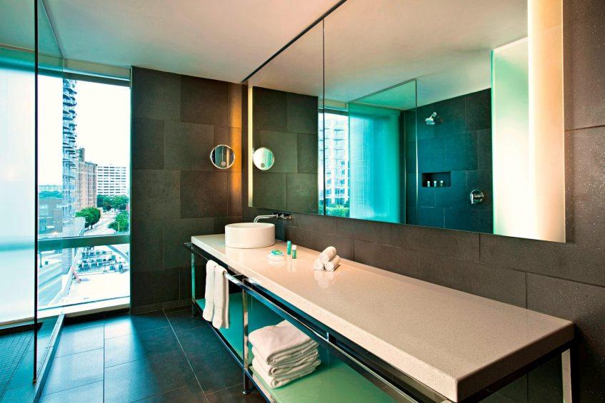 W Atlanta Downtown Luxury Hotel - Atlanta, Georgia, USA - Studio Suite Bathroom Vanity