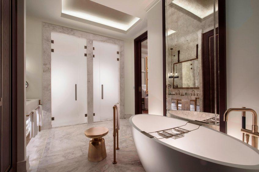 The St. Regis Astana Luxury Hotel - Astana, Kazakhstan - Deluxe Bathroom Separate Tub and Shower