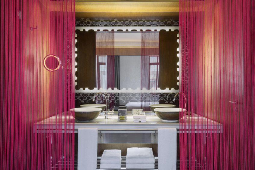 W Istanbul Luxury Hotel - Istanbul, Turkey - Guest Bathroom Vanity